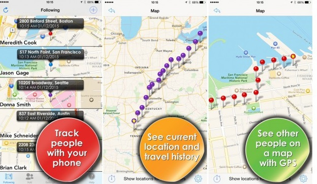 iPhone Real Time Location Tracking - Phone Tracker
