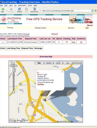 iPhone Real Time Location Tracking - AccuTracking