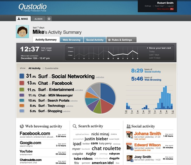 apps to monitor childs phone - Qustodio