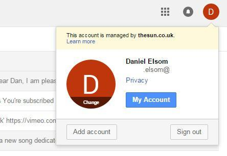 your Gmail account has been hacked